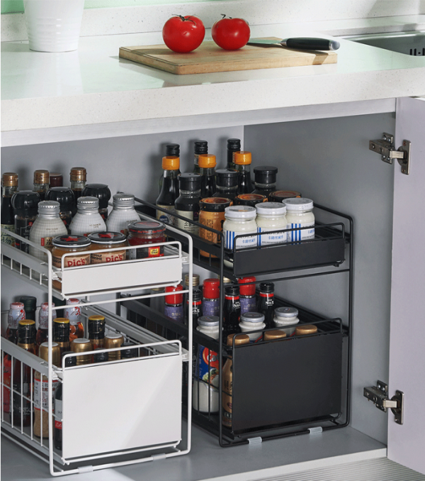 Under Sink Cabinet Organizer With Sliding Storage Drawer For Kitchen Bathroom Office Council Lucky