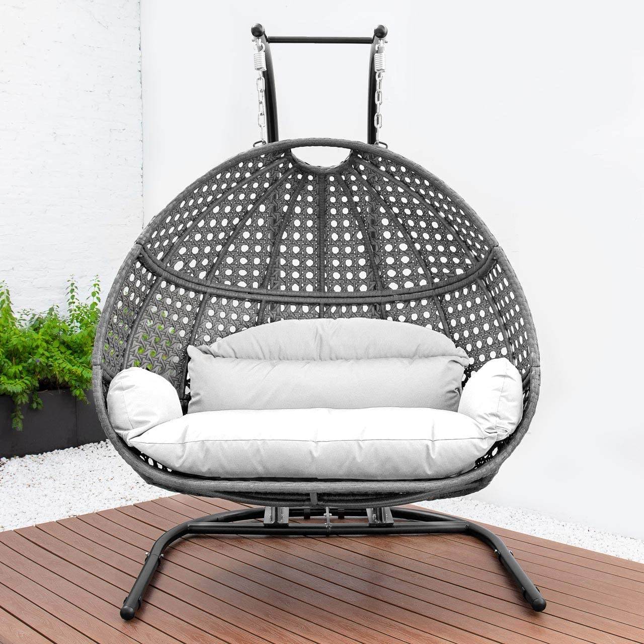 Double Swing Chair With Stand, Outdoor Swing Chair With Stand Canada